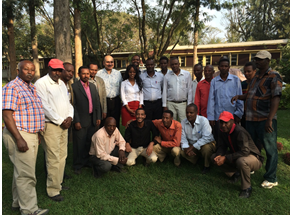 Group picture of pilot trainees and training organizers, 22 December 2014 to 16 January 2015.